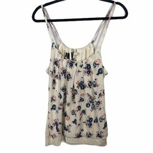 Maurices Floral Tank Ties In Back